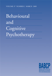 Behavioural and Cognitive Psychotherapy Volume 37 - Issue 2 -