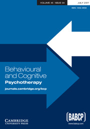 Behavioural and Cognitive Psychotherapy Volume 45 - Issue 4 -