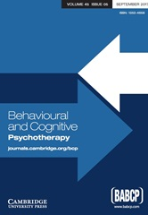 Behavioural and Cognitive Psychotherapy Volume 45 - Issue 5 -