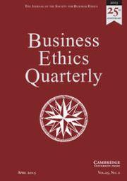 Business Ethics Quarterly Volume 25 - Issue 2 -