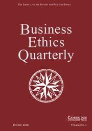 Business Ethics Quarterly Volume 26 - Issue 1 -