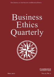Business Ethics Quarterly Volume 27 - Issue 2 -