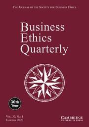 Business Ethics Quarterly Volume 30 - Issue 1 -