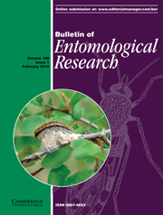 Bulletin of Entomological Research Volume 100 - Issue 1 -