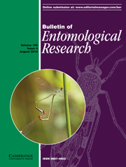 Bulletin of Entomological Research Volume 100 - Issue 4 -