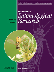 Bulletin of Entomological Research Volume 101 - Issue 3 -