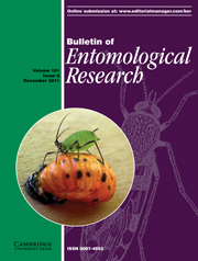 Bulletin of Entomological Research Volume 101 - Issue 6 -