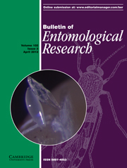 Bulletin of Entomological Research Volume 102 - Issue 2 -