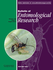 Bulletin of Entomological Research Volume 102 - Issue 4 -