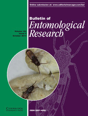 Bulletin of Entomological Research Volume 104 - Issue 5 -