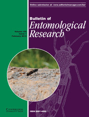 Bulletin of Entomological Research Volume 105 - Issue 1 -