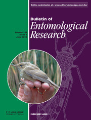 Bulletin of Entomological Research Volume 105 - Issue 3 -