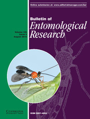 Bulletin of Entomological Research Volume 105 - Issue 4 -
