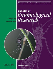Bulletin of Entomological Research Volume 105 - Issue 6 -
