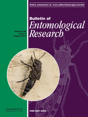Bulletin of Entomological Research Volume 106 - Issue 4 -