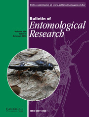 Bulletin of Entomological Research Volume 106 - Issue 5 -
