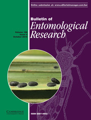 Bulletin of Entomological Research Volume 108 - Issue 5 -