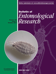 Bulletin of Entomological Research Volume 109 - Issue 5 -