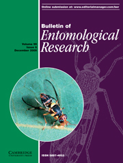 Bulletin of Entomological Research Volume 99 - Issue 6 -