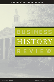 Business History Review Volume 86 - Issue 1 -
