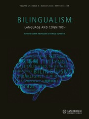Bilingualism: Language and Cognition