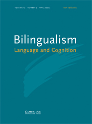 Bilingualism: Language and Cognition Volume 12 - Issue 2 -