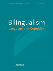 Bilingualism: Language and Cognition Volume 13 - Issue 3 -