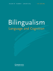 Bilingualism: Language and Cognition Volume 16 - Issue 1 -