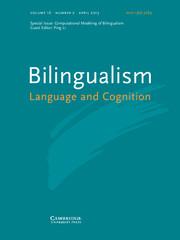 Bilingualism: Language and Cognition Volume 16 - Issue 2 -  Computational Modeling of Bilingualism