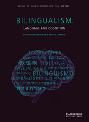 Bilingualism: Language and Cognition Volume 17 - Issue 4 -