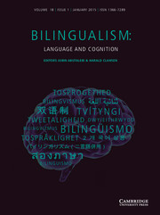 Bilingualism: Language and Cognition Volume 18 - Issue 1 -