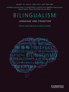 Bilingualism: Language and Cognition Volume 18 - Special Issue2 -  L3 Acquisition: A Focus on Cognitive Approaches