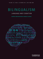 Bilingualism: Language and Cognition Volume 18 - Issue 4 -