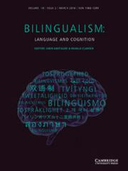 Bilingualism: Language and Cognition Volume 19 - Issue 2 -