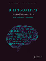Bilingualism: Language and Cognition Volume 19 - Issue 5 -