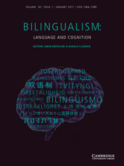 Bilingualism: Language and Cognition Volume 20 - Issue 1 -