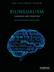Bilingualism: Language and Cognition Volume 20 - Special Issue2 -  Cross-linguistic Priming in Bilinguals: Multidisciplinary Perspectives on Language Processing, Acquisition and Change