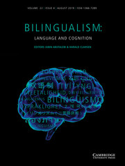 Bilingualism: Language and Cognition Volume 22 - Issue 4 -