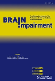 Brain Impairment Volume 14 - Issue 2 -