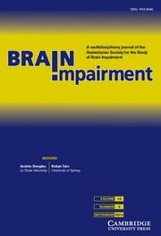 Brain Impairment Volume 15 - Issue 2 -