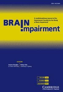 Brain Impairment Volume 15 - Issue 3 -