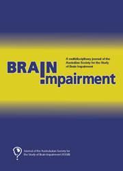 Brain Impairment Volume 16 - Issue 1 -