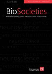 BioSocieties Volume 2 - Issue 1 -  Special Issue: The Construction and Governance of Randomised Controlled Trials