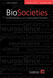 BioSocieties Volume 3 - Issue 3 -