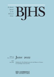 The British Journal for the History of Science