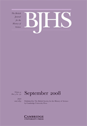 The British Journal for the History of Science Volume 41 - Issue 3 -