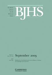 The British Journal for the History of Science Volume 42 - Issue 3 -