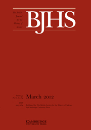 The British Journal for the History of Science Volume 45 - Issue 1 -