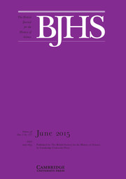 The British Journal for the History of Science Volume 48 - Issue 2 -