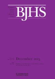 The British Journal for the History of Science Volume 48 - Issue 4 -